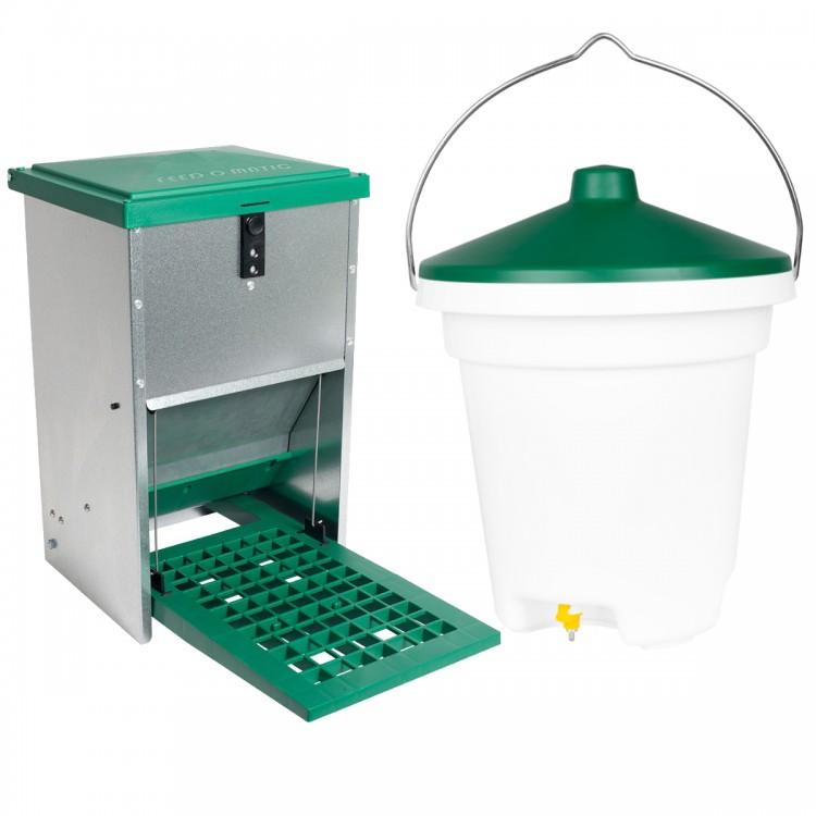 Karmidło dla drobiu 8kg + Poidło 12L EXTRA-SAVE