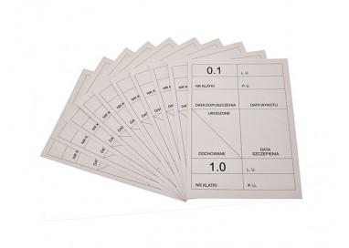 Wkładka do tabliczek identyfikacyjnych (10 sztuk)