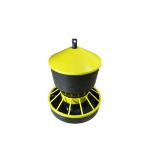 Karmidło zasypowe dla drobiu 6 kg żółte