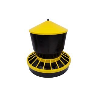 Karmidło zasypowe dla drobiu 22 kg żółte