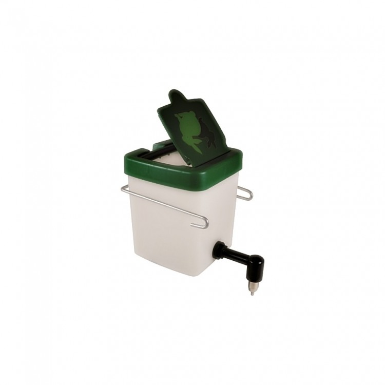 Poidło 0,5 litra 90 st. (biało - zielone)